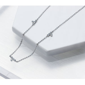 CZ Bezel Station Necklace