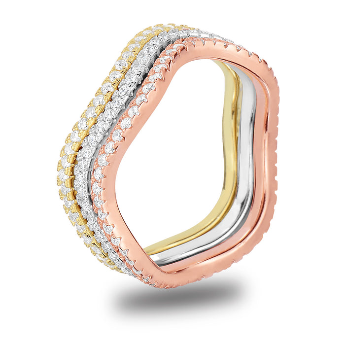 Ellie Wave Eternity Band - Spoil Cupid Jewelry