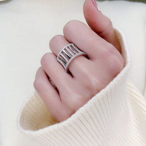 Pave Cut Out Open Ring