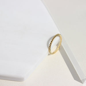 Beaded Mini Ring - Gemme Jewelry