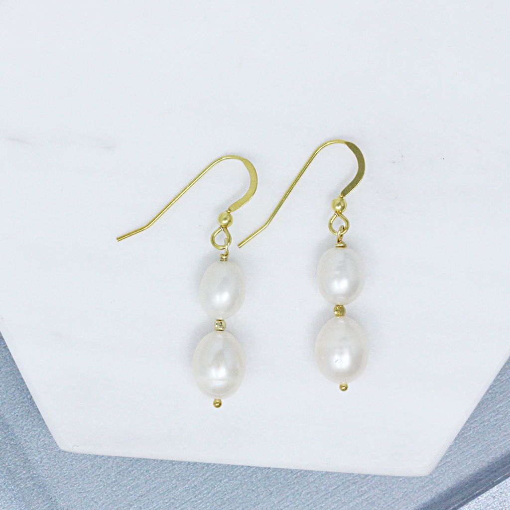 Bonnie Handmade Pearl Drop Earrings - Gemme Jewelry