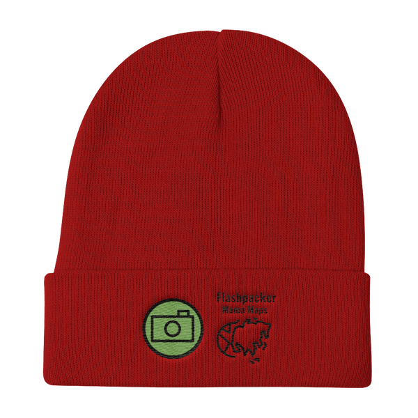 Flashpacker Mama Maps Official Knit Beanie