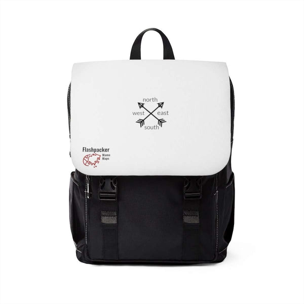 Black and White Shoulder Backpack