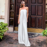 Loose Wide Leg Strapless Jumpsuit
