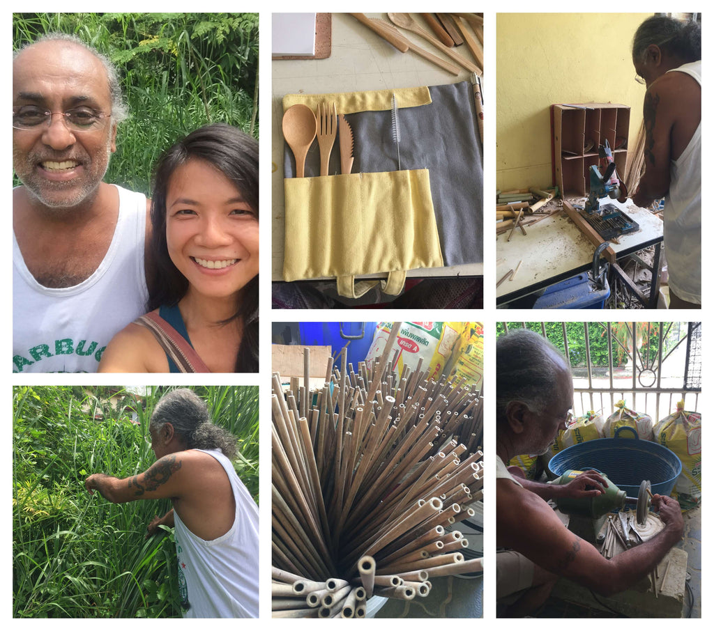 Sonny Bamboo Straw Making
