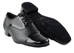 PCD916102 <BR> Black Patent & Black Leather