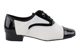 PCD916102 <BR> Black Patent & White Leather