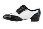 PCDM100101 <BR> Black Patent & White Leather