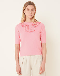 Top plastron maille chantilly Molli