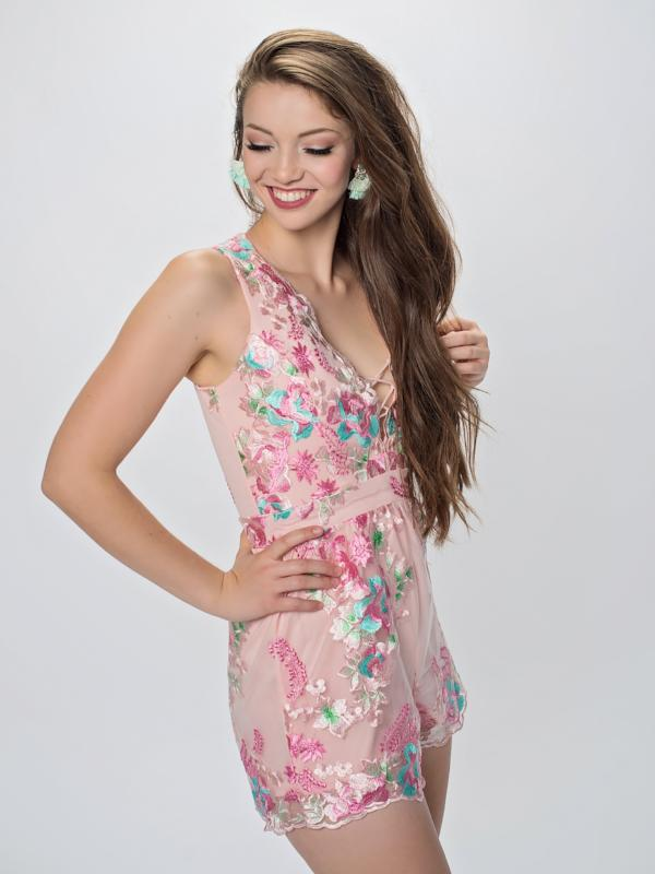 Rose Mary embriodered romper