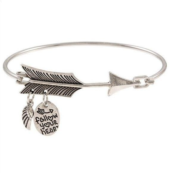 Follow your heart bangle-silver