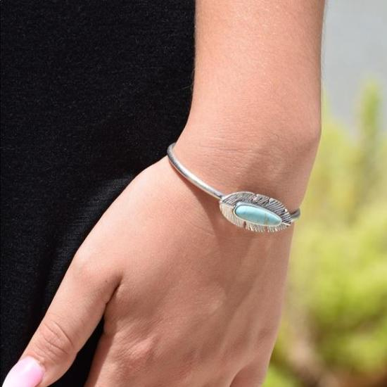White/ silver feather cuff