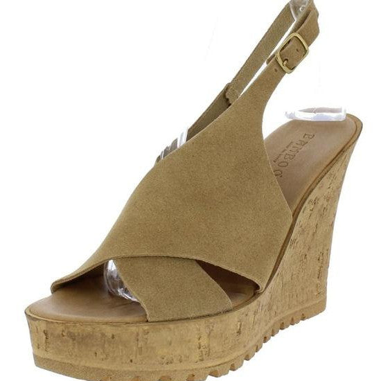 Kendra slingback wedge