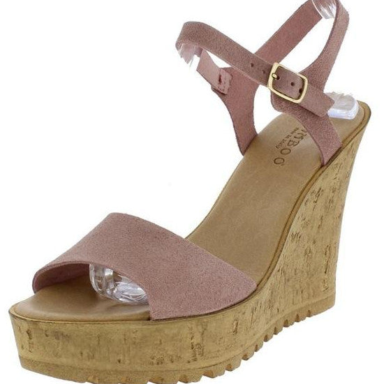 Payton cork wedge