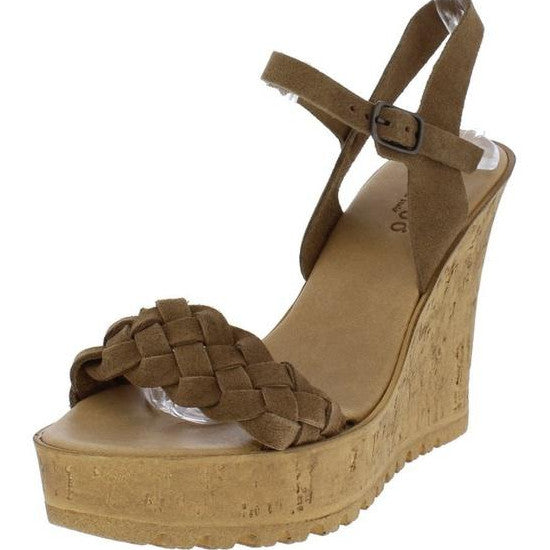 Sara braided wedge- brown