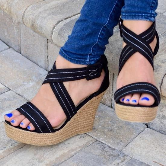 Cami Wedge- Black