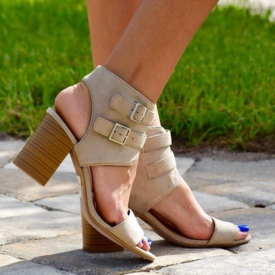 Cecilia Block Heel- Clay