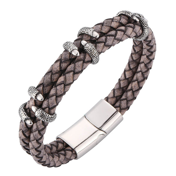 Leather Bracelet Dragon Claw - Brown