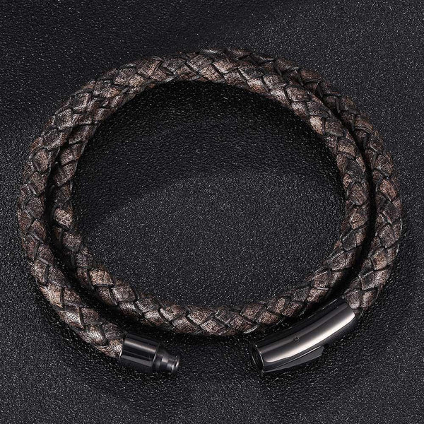 Leather Rope Bracelet - Wood Color-Clickmylife