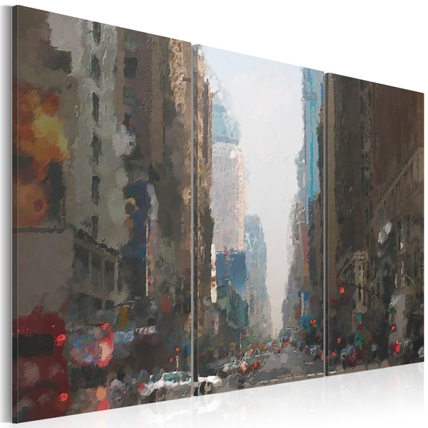 Tableau toile de décoration motif Rainy city behind the glass 60x40cm DEC110442/2