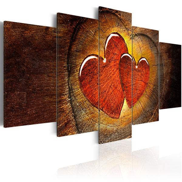 Tableau toile de décoration motif Beating of your heart 100x50cm DEC110096/2
