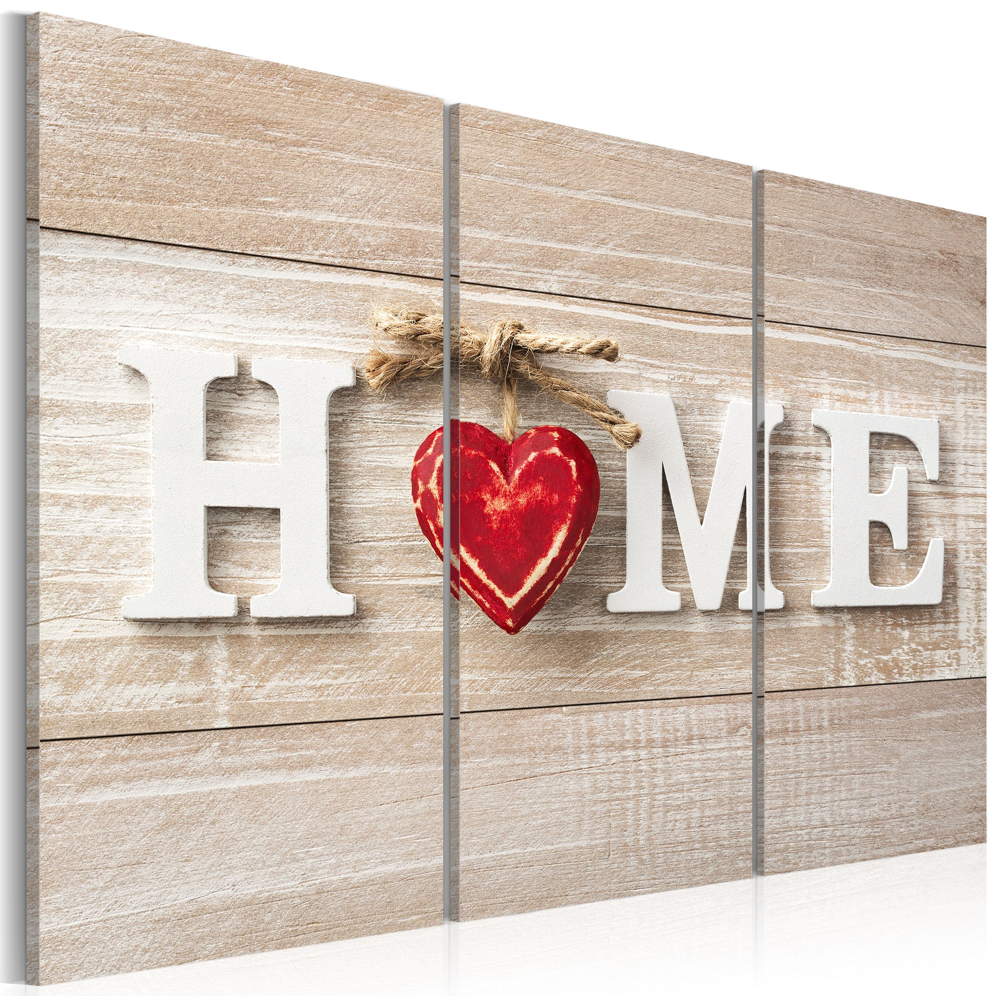 Tableau toile de décoration motif The Heart of the Home 120x80cm DEC110001/2