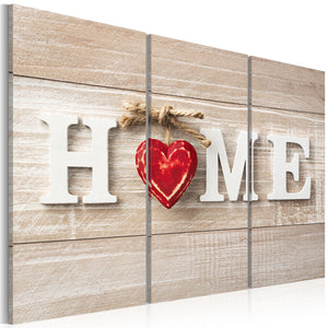 Tableau toile de décoration motif The Heart of the Home 90x60cm DEC110002/2