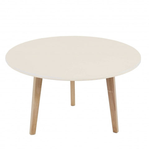 Table basse ronde table d'appoint design rétro 45x80 blanc TABA04002