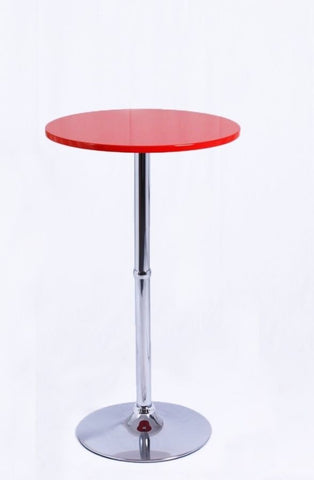 Table haute de bar bistrot rouge 108cm TAB09004