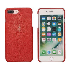 Coque Galuchat pour iPhone - Rouge