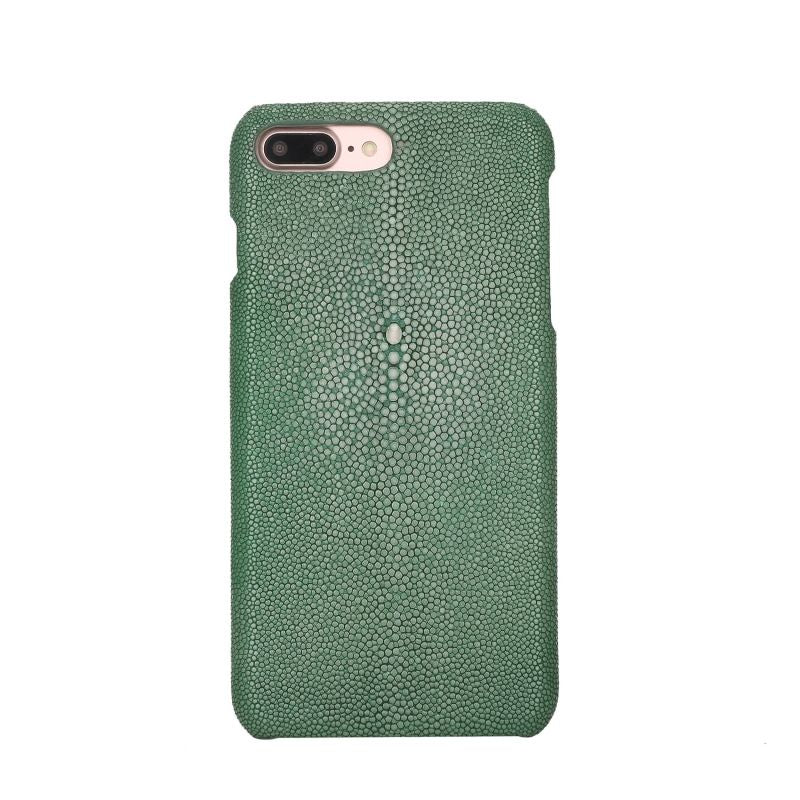 Coque Galuchat pour iPhone - Vert Clair