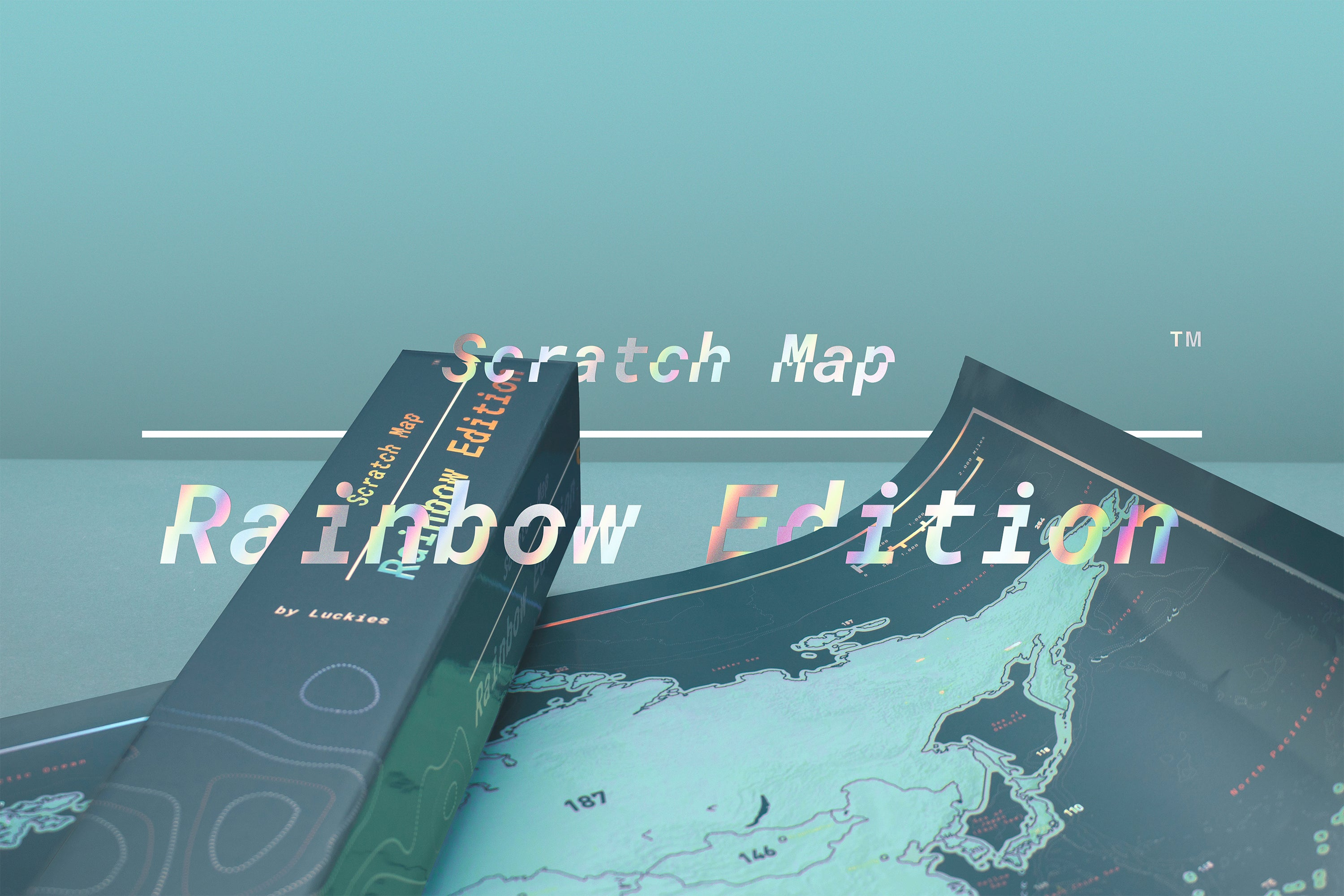 "Scratch Map - ""Regenbogen Edition"""