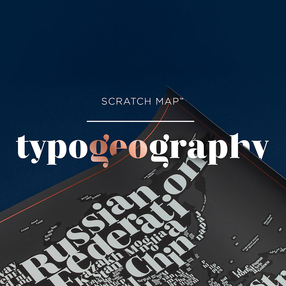 Scratch Map - Typogeography Edition