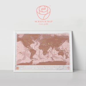"Scratch Map - ""Rose Gold"""