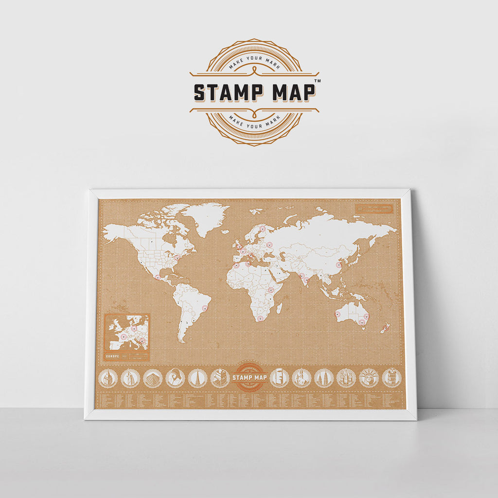 Scratch Map - Stamp Map