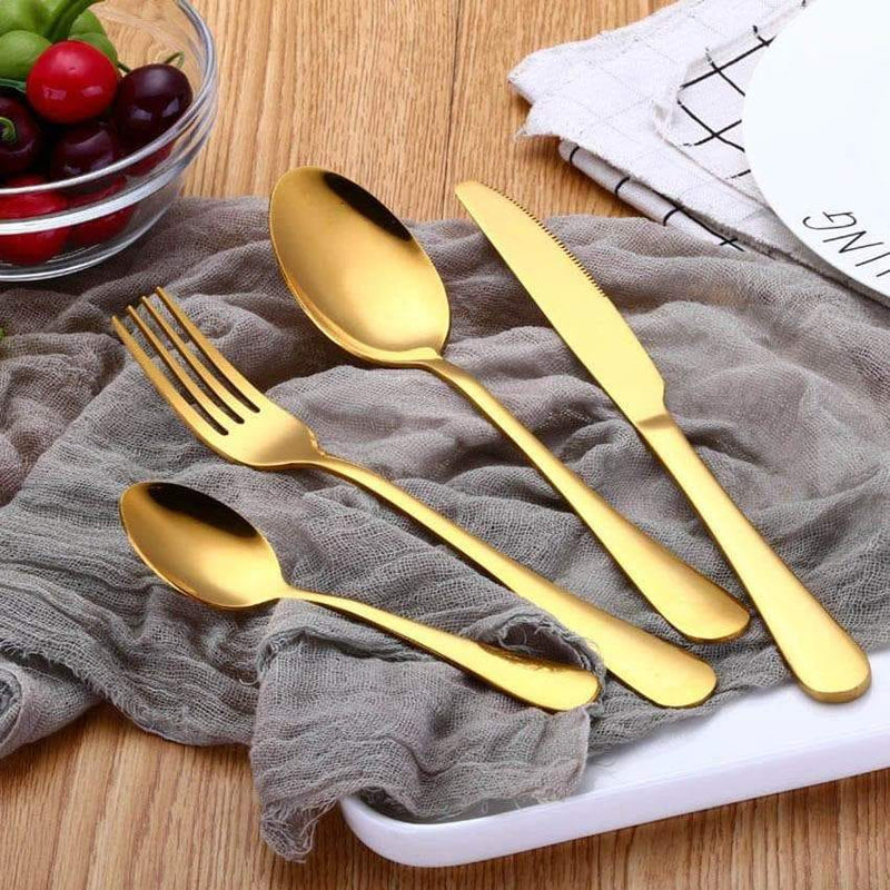 4pcs Stainless Steel Rainbow Cutlery Tableware Set
