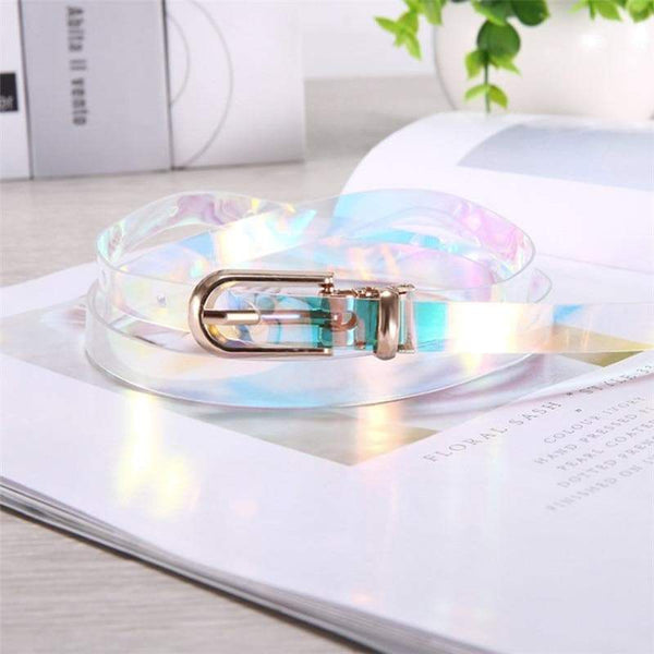 Iridescent fashion belt