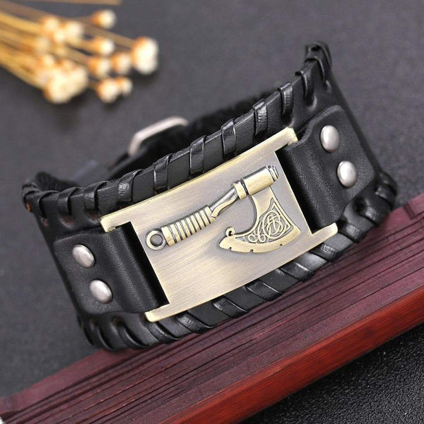 Slavic Perun Leather cuff