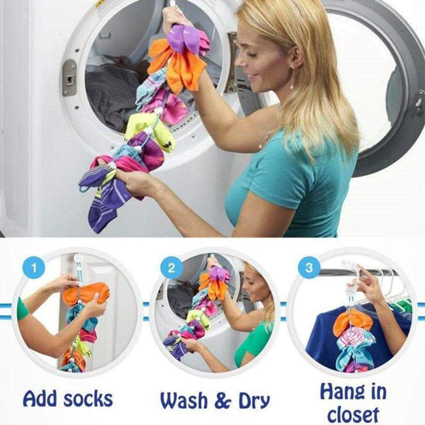 Adjustable sock organizer