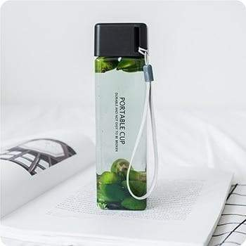 Detox water bottle with cup