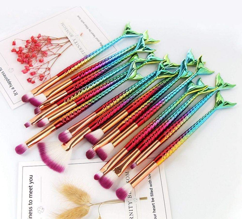15Pcs Professional Mermaid Brushes Kit