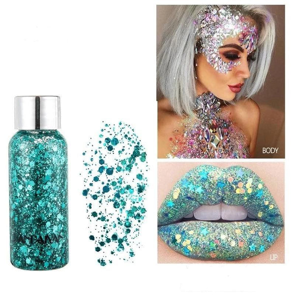 Holographic eyeshadow gel