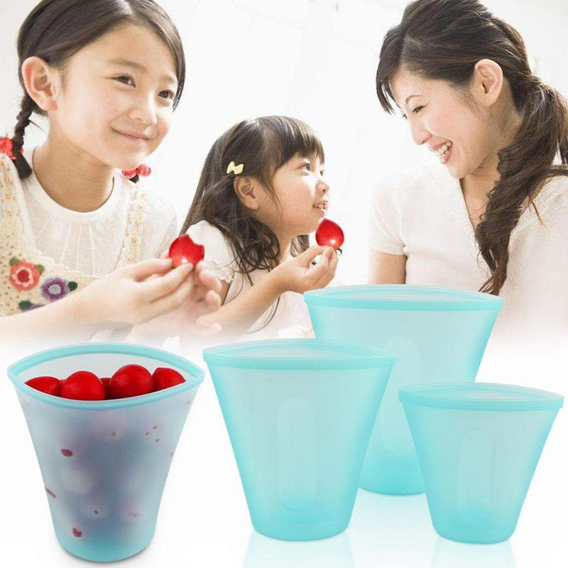 3Pcs Silicone Food Storage Containers