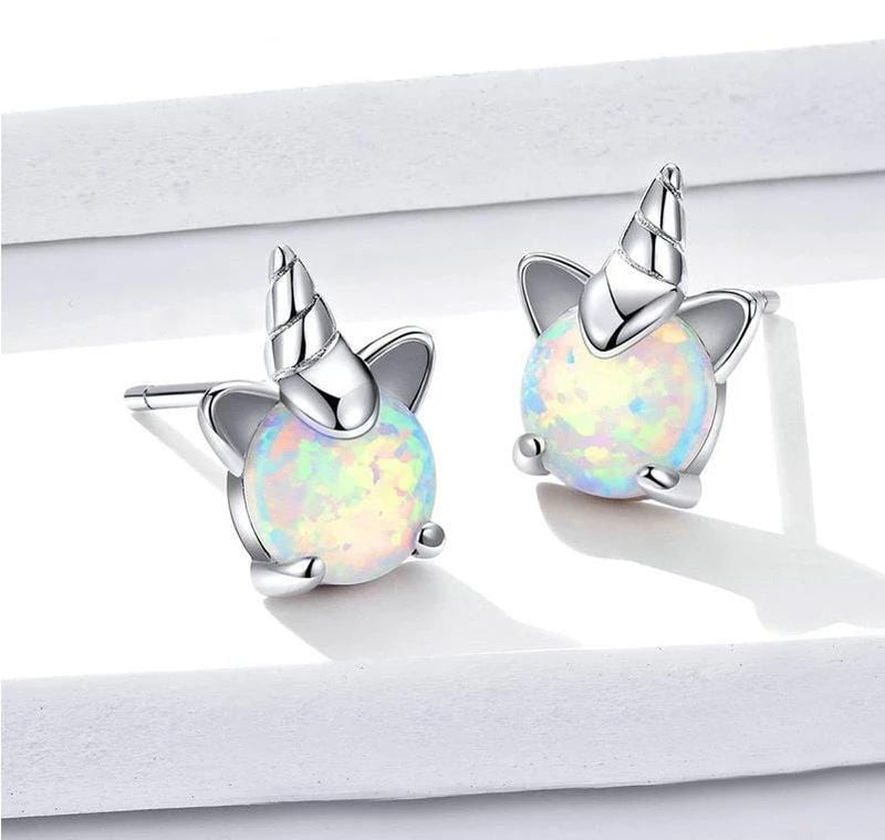 Opal Unicorn Earings