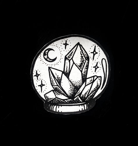 Patch Boule de Cristaux thermocollant witch crystal wicca
