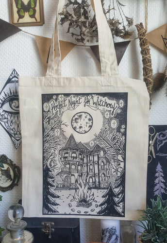 Perfect Night for Witchery Tote bag
