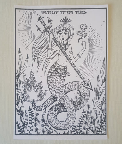 Print Goddess of the Sea - A4