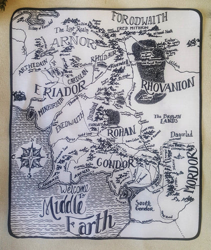 Back Patch Xl Middle Earth Map - Carte de la Terre du Milieu