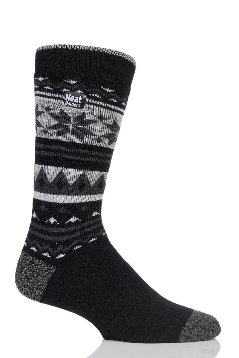 Black/Charcoal Fairisle