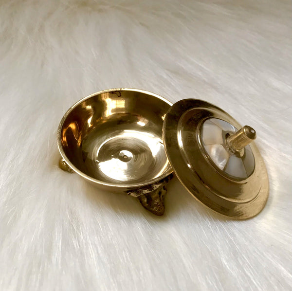 Brass with Mother of pearl Incense burner